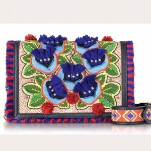Tory Burch Embroidered Floral Crossbody Bag
